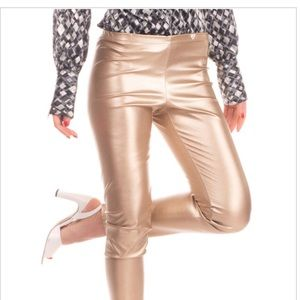 La Stupenderia Leggings Size 16Y Stretch Leather.